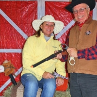 couple dressed up as cowboy and cowgirl