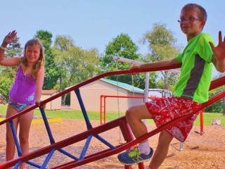 boy and girl at the playground