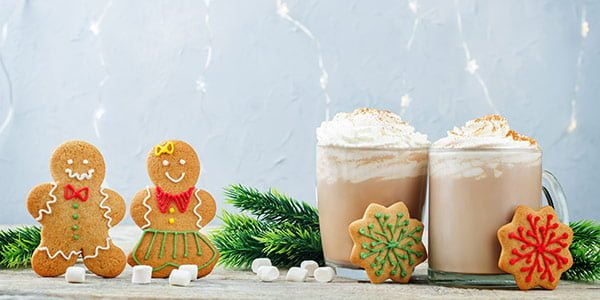 Gingerbread cookies and cocoa